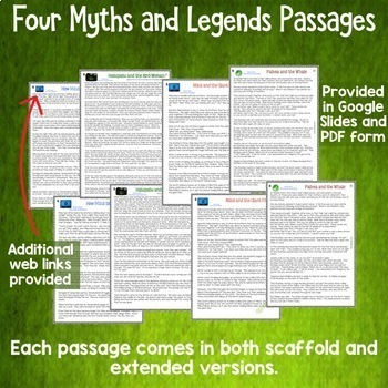 Māori Myths and Legends Interactive Digital Reading Activities for Google Drive®