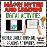 Maori Myths and Legends Digital Reading Comprehension Activity for Google Slides