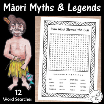 Māori Myths and Legends  -  Word Searches