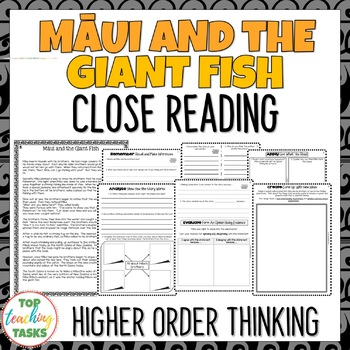 Māui and the Giant Fish | Maori Myths and Legends Passage and Questions