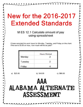 M 12.1 Calculate Pay Based on Spreadsheet NEW Extended Standards AAA