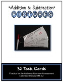 M 3.2 Addition and Subtraction Using Pictures 32 Task Cards