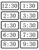 M 3.3. Digital Clocks to Half-Hour Practice