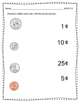 M 3.4 Extended Standards Identify Coins and Bills Alabama Alternate Assessment