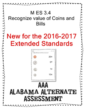 M 3.4 Extended Standards Identify Coins and Bills Alabama