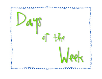 M 3.6 Teaching Materials Days of the Week
