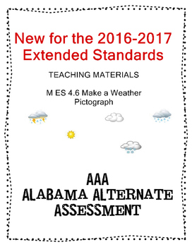 M 4.6 Extended Standards Make  a Weather Pictograh NEW AAA