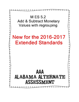 M 5.2 Extended Standards Add & Sub 2 Digits Using Money Symbols AAA
