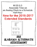 M 5.3 Extended Standards Time to half-hour analog Alabama Extended Standards