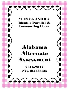 M 7.5 AND M 8.5 Extended Standard Identify Parallel & Intersecting Lines NEW AAA