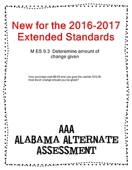 M 9.3 Determine Chnage Given NEW Extended Standards AAA
