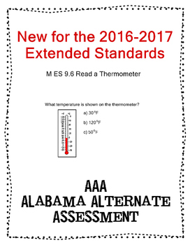 M 9.6 Read a Thermometer NEW Extended Standards AAA