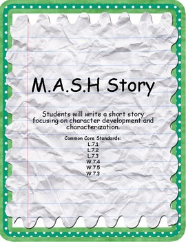 M.A.S.H Character Writing Assessment