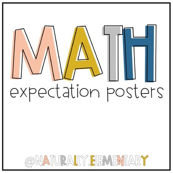 M.A.T.H. Expectation Posters