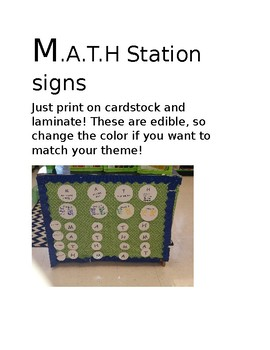 M.A.T.H Station signs
