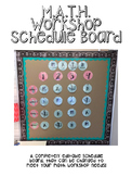 Cactus-Themed M.A.T.H. Workshop Schedule Board