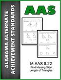 M.AAS.8.22 Find Missing Sides Triangles  Alabama Alternate Achievement Standard