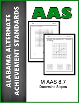 M.AAS.8.7 Determine Slope  Alabama Alternate Achievement Standard