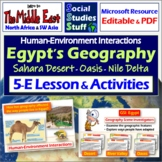 Egypt: Adapting to Geography- Complete 5-E Lesson (SW Asia and North Africa)