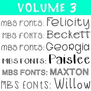 M.B.S Fonts | GROWING FONT BUNDLE