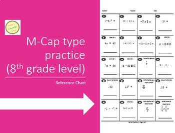 M-CAP (AIMSWEB) Practice Test - 7th or 8th Grade or High School