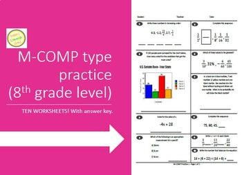 M-COMP (AIMSWEB) Practice Test - 7th or 8th Grade or High School