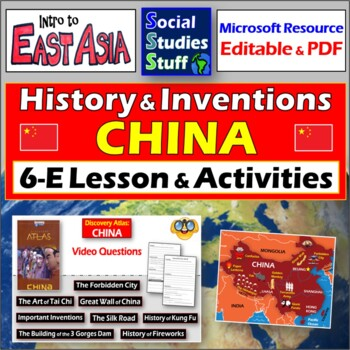 """Discovery Atlas: China Short Stories"" - Complete Lesson with video questions"