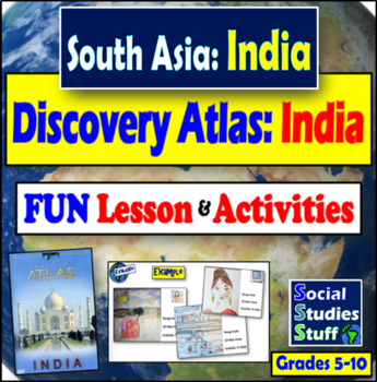 """Disovery Atlas- India Revealed"" - Complete Lesson with video questions"