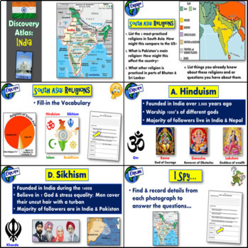 """""""Disovery Atlas- India Revealed"""" - Complete Lesson with video questions"""