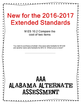 M 10.2 Compare Costs of Items NEW Extended Standards AAA