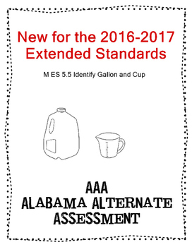 M 5.5 Extended Standard Identify Gallons and Cups NEW AAA