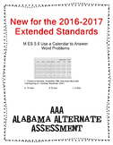 M 5.6 Extended Standard Use Calendar Word Problems  NEW AAA