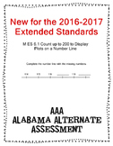 M 6.1 Extended Standard Fill in Number Line  NEW AAA