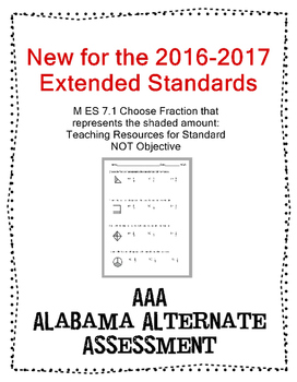 M 7.1 Extended Standard Choose Fraction Represented  NEW AAA