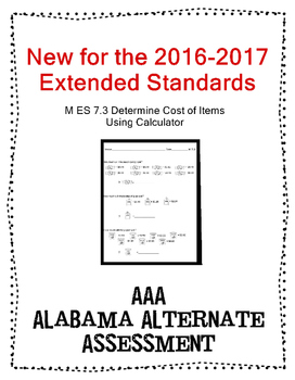 M 7.3 Extended Standard Use Calculator to Find Cost NEW AAA