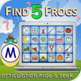 M Find 5 Frogs - Articulation Activity - Teletherapy - Dig