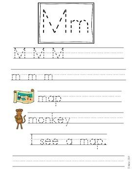 M Handwriting Freebie