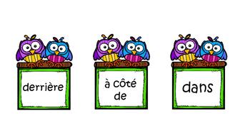 M. Hibou, où es-tu? French Prepositions