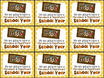 M&M Beginning of Year Gift Tag-Marvelous and Magnificent School Year