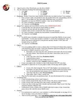 M&M Chart Activity (Excel)