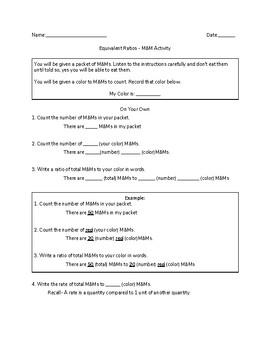 M&M Equivalent Ratios Activity