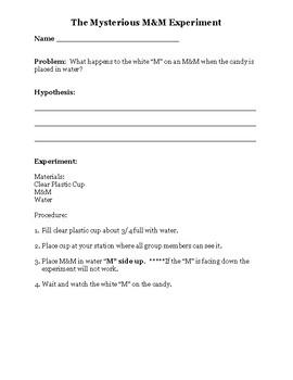 M&M Experiment