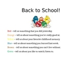 M & M First Day of School Activity