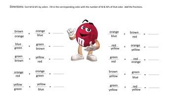 M & M Fractions- Math