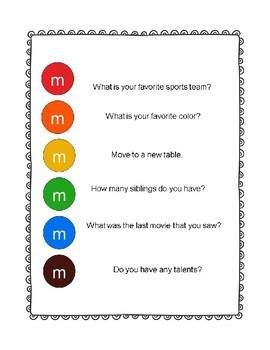 M&M Get to Know You Game