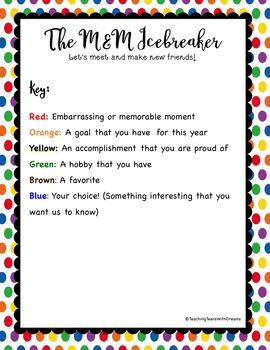 M&M Icebreaker Activity