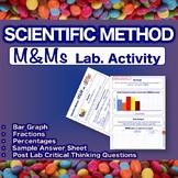 M&M Lab - Scientific Method Experiment - Fractions, Percen