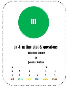 M & M Line Plot Activity