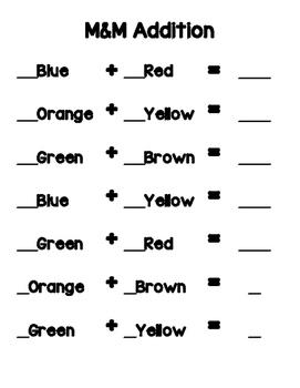 M & M Math Activities