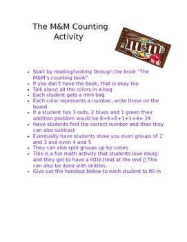 M&M Math Activity